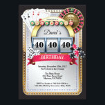 "Casino Poker Playing Card Birthday Invitation<br><div class=""desc"">Poker Playing Card Casino Gold birthday invitation. Casino theme gold glitter invite,  18th 20th 21st 30th 40th 50th 60th 70th 80th 90th 100th,  Any age. For further customization,  please click the ""Customize it"" button and use our design tool to modify this template.</div>"