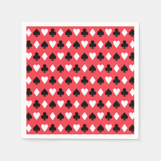 Casino Poker Playing Card Symbols Pattern Paper Napkin