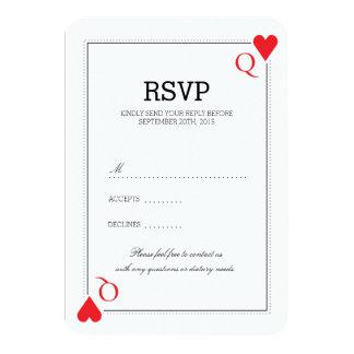 Casino que casa la tarjeta de RSVP Invitación 8,9 X 12,7 Cm