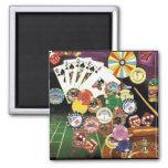 Casino que juega - póker, mierdas, ruleta iman de frigorífico