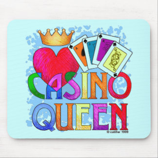 Casino Queen Blue Mouse Pad