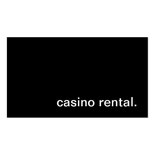 Casino Rental Business Card