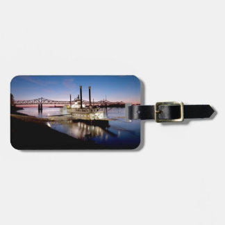 Casino Riverboat at Dusk Luggage Tag