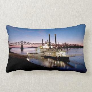 Casino Riverboat at Dusk Lumbar Pillow