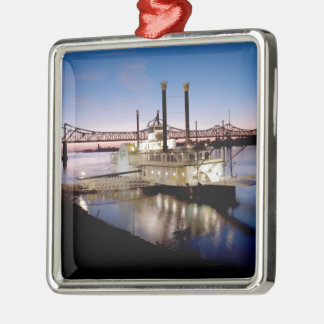 Casino Riverboat at Dusk Metal Ornament