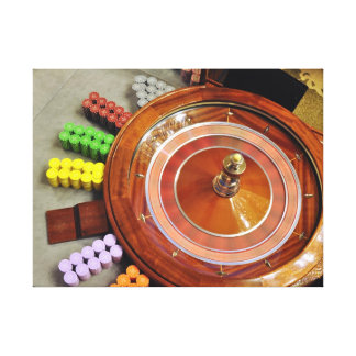 casino roulette spinning rotate gambling canvas print