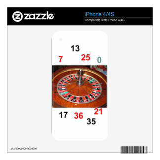 Casino Roulette wheel and lucky numbers Decal For The iPhone 4