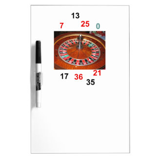Casino Roulette wheel and lucky numbers Dry-Erase Board