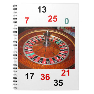 Casino Roulette wheel and lucky numbers Spiral Notebook