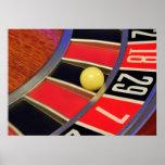 casino roulette wheel ball number 29 gambling print
