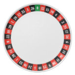 casino roulette wheel numbers plate