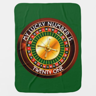 Casino Roulette Wheel With Your Lucky Number Swaddle Blanket