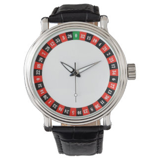 casino roulette wheel wrist watch