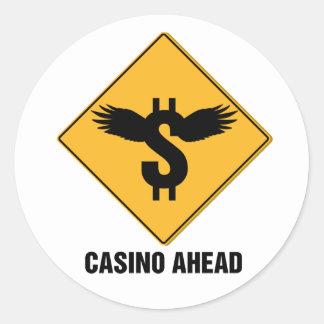Casino Round Stickers