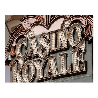 Casino Royal Retro Neon Sign Postcard