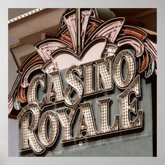 Casino Royale Las Vegas Retro Poster
