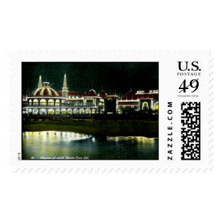 Casino, Santa Cruz, California 1908 Vintage Postage Stamps