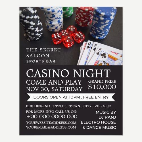 Casino Scene, Casino Night, Gaming Industry Flyer