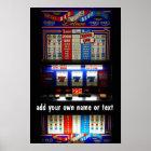Casino Slot Machine Lucky 7  Personalized Poster