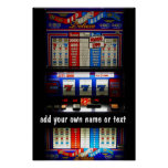 Casino Slot Machine Lucky 7  Personalized Poster