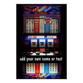 Casino Slot Machine Lucky 7  Personalized Posters