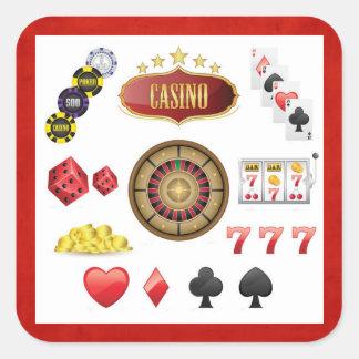 Casino Square Sticker