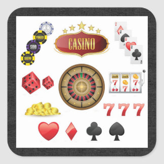 Casino Square Sticker