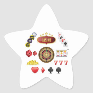 Casino Star Sticker