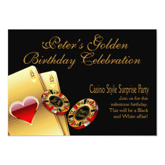 Casino Style Party ASK ME TO PUT NAMES IN CHIPS Custom Invites