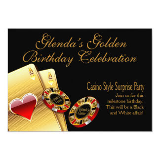 Casino Style Party ASK ME TO PUT NAMES IN CHIPS Custom Invitation