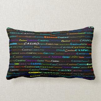 Casino Text Design I Lumbar Pillow