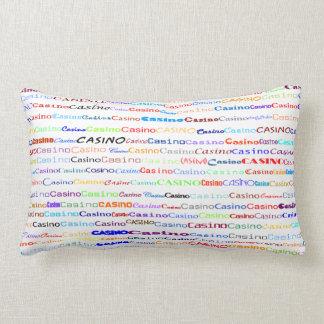 Casino Text Design II Lumbar Pillow