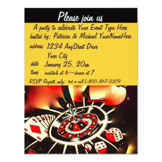 Casino Theme Black and Gold Card