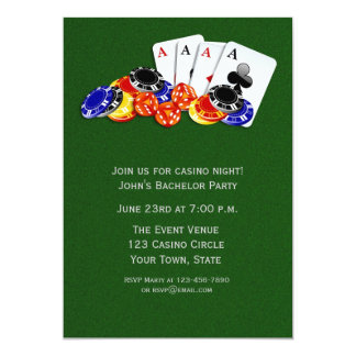 Casino Themed Party Card