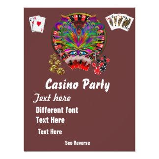 Casino Themes Masquerade 1 See Notes Custom Flyer