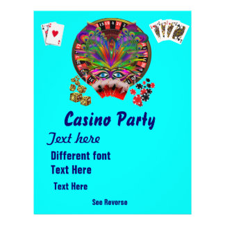 Casino Themes Masquerade 1 See Notes Full Color Flyer