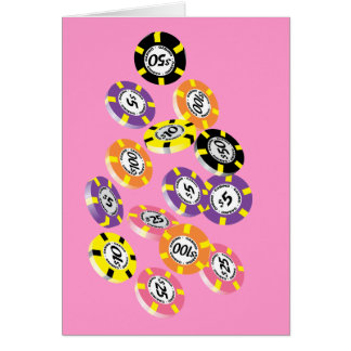 Casino Tokens Gambling Chips Stationery Note Card