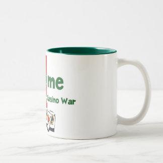 Casino-War Lover's two tone mug