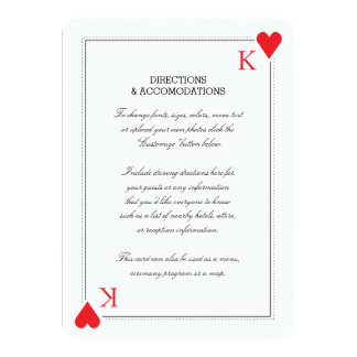 Casino Wedding Insert Card