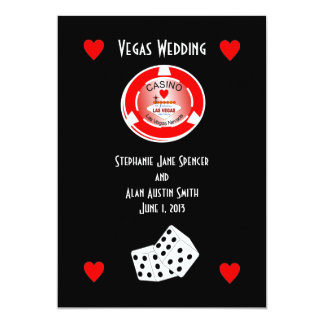 Casino Wedding Invitation
