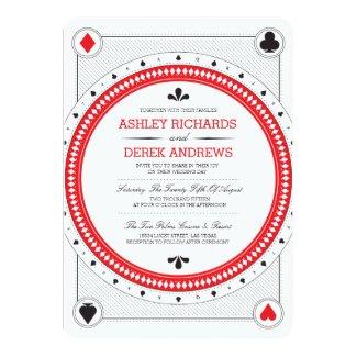 Casino Wedding Invite by Origami Prints