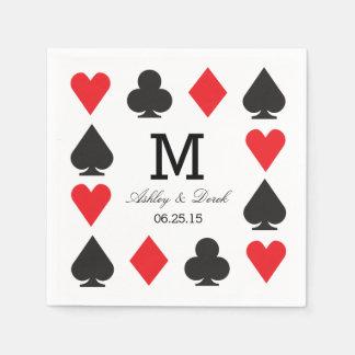 Casino Wedding Paper Napkins