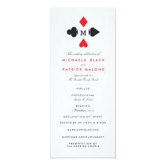 Casino Wedding Programs 4x9.25 Paper Invitation Card