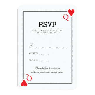 "Casino Wedding RSVP Card 3.5"" X 5"" Invitation Card"
