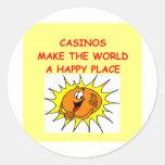 casinos etiqueta redonda