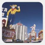 Casinos y hoteles en Las Vegas Calcomania Cuadradas Personalizada