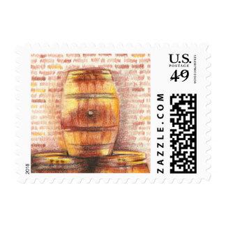 cask/barrel for wine tasting postage