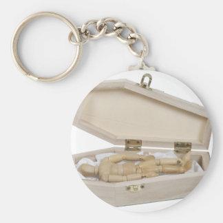 Casket030811 Basic Round Button Keychain