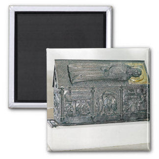 Casket containing the remains of St. Simeon 2 Inch Square Magnet