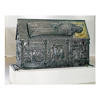 Casket containing the remains of St. Simeon Postcard